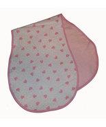 Baby's Hearts Flannel Burp Cloths - $10.00