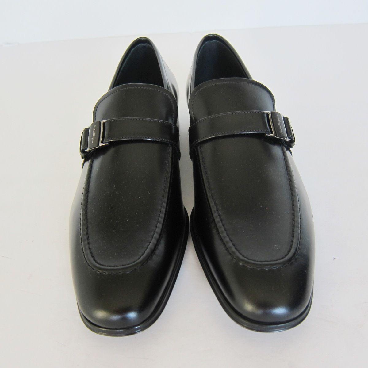 3f720e2531f Y-1732208 New Salvatore Ferragamo Pinot Black Leather Loafer Shoe Size US  8.5D