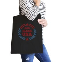 God Bless USA Black Eco-Friendly Patriotic Design Canvas Bag Cotton - $15.99