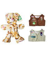 "New Build a Bear Girl Scouts Plush 16"" UNSTUFFED S'mores Bear with 2 Vests - $79.15"