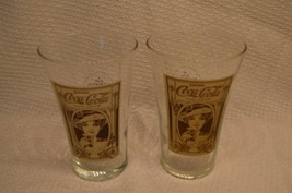 2 COKE 16oz RE-CREATION OF THE ORIGINAL FLARE GLASS ANTIQUE COLLECTIBLE - $6.91