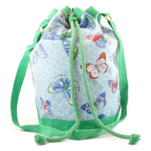 HERMES Shoulder Bag Cotton Blue Green Auth sa2173 - $298.00