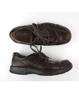 Clarks Sz 10 Mens Brown Leather Casual Shoe - $31.01