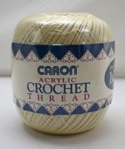 Caron Acrylic Crochet Thread - Size 10 - Super Value 1000 Yards Color Ecru #0160 - $5.65