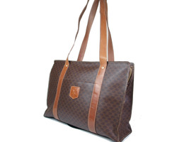 Auth CELINE Macadam PVC Leather Brown Tote Bag, Shoulder Bag CT14159L - $129.00
