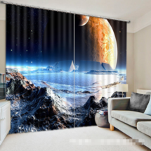 3D Exoplanet 20 Blockout Photo Curtain Printing Curtains Drapes Fabric Window CA - $147.54+