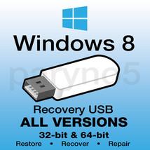 *USB WINDOWS 8 ALL VERSIONS Recovery Install Reinstall Restore USB Flash... - $10.99