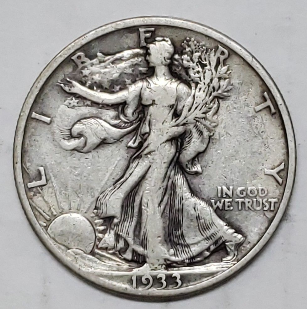 1933S Walking Liberty Half Dollar 90% Silver Coin Lot# E 131