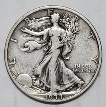 1933S Walking Liberty Half Dollar 90% Silver Coin Lot# E 131