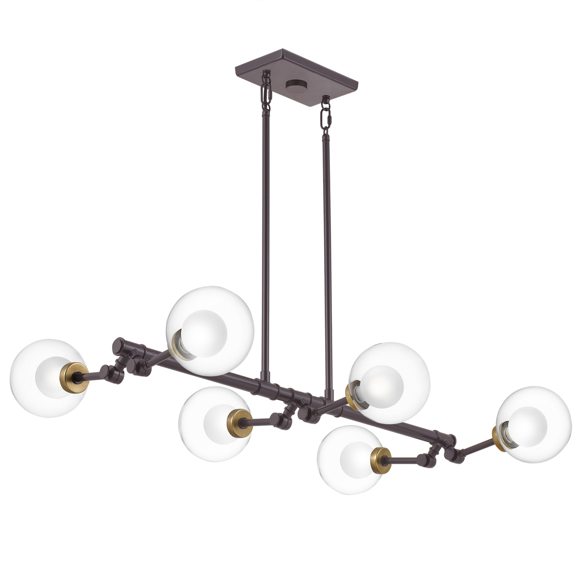 Primary image for Curtis 6-Light Linear Chandelier in Old Bronze