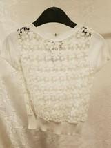 Alberto di Roma Pullover Sweater Girls Tops Size 5 & 8 White Floral Desi... - $5.99