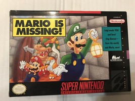 Mario is Missing (Super Nintendo, 1993) Complete In Box With Map CIB ES11 - $82.99