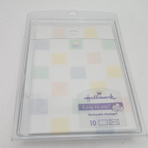 Hallmark Pastel Baby Blank Notes or Invitations With Accessories & Envelopes - $7.76