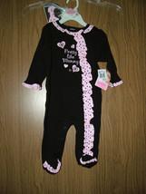 "Baby Essentials 2 Pc Sleep & Play Set""Pretty like Mommy"" Black/Pink.Size... - $15.99"
