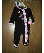 "Baby Essentials 2 Pc Sleep & Play Set""Pretty like Mommy"" Black/Pink.Size... - $15.99"