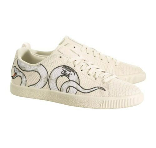 Puma Clyde Snake Embroidery Textured Mens Size 11.5 Style #36811101