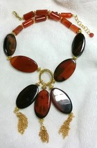 Carnelian Horse Eye Necklace - $50.00