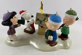 Hallmark Keepsake Ornament Woodstock On Doghouse Snoopy Peanuts Display Set of 5 - $39.59