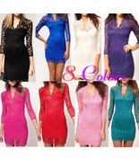 LITTLE black dress party evening elegant Mini Lace Dress clubbing elegant - $28.88