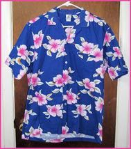 Men's Royal Creations Floral Hawaiian Shirt Sz Medium  - $19.99