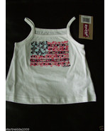Levi's Baby Girls Graphic Knit Top,White Color,Sz.18 Months - $9.99