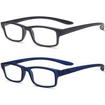 Reading Glasses Neck Hanging Readers - 2 Pairs Blue Light Blocking Computer Eyeg image 4