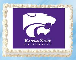 """Kansas State Edible Image Topper Cupcake Cake Frosting 1/4 Sheet 8.5 x 11"""" - $11.75"""