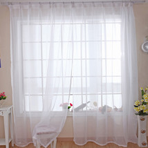 Modern Pure Solid Tulle Curtains for Shading Kitchen Hotel Balcony Livin... - $75.80
