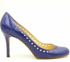 Kate Spade Women Stiletto Pump Heels Size US 8.5B Blue Leather - $20.20