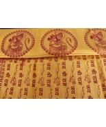 Hindu Religious Shawl Prayers SHREE RAM Mantras Yoga Dupatta /Chadar Cot... - $17.81