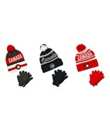 Canada Weather Gear Brand Kids' Winter Hat & Gloves Set CWG PomPom New Text - $30.00