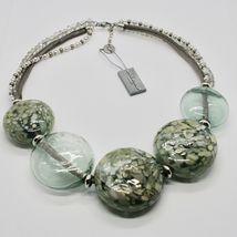 Necklace Antique Murrina Venezia with Discs Large of Murano Glass COA75A34 image 4