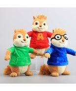 3Pcs Movie Toys Alvin And The Chipmunks Plush Dolls Cute Chipmunks Stuff... - $25.56
