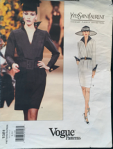 Vogue 1581 Paris Original Dress,Surplice Front Shirt Dress,Cuff Sleeve S... - $45.00