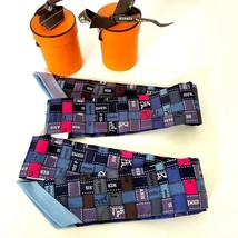 Hermes Twilly Pair Bolduc Scarves  Blue and Rose Vif Pink - $381.15
