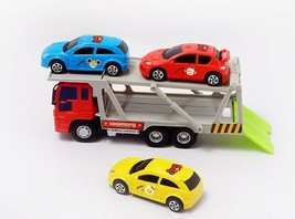 Zeus Toys Mini Carrier Trailer Truck Car Push and Go Friction Powered Toy image 2