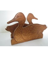 1970s Mallard Duck Letter Holder Geppetto's Brown County IN Hunting Lodg... - $11.64