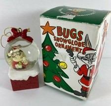 Vintage Looney Tunes Bugs Bunny Christmas Snow Globe Ornament with Box - $19.79