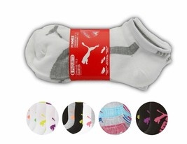 Puma Women's 6 Pack Low Cut Classic Sport Athletic Gym Moisture Control Socks