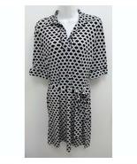 Laundry By Shelli Segal Womens Sz 2 Dress Navy Blue White Geo Belted V-n... - $19.99