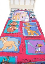 Vintage Disney Lion King Sheet Set Twin Fitted & Flat + 2 Pillow Cases 4... - $69.29