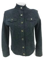 St. John Sport By Marie Women's Gray Stretch Denim Jacket Blazer Size Pe... - $60.74