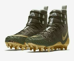 Nike Force Savage Elite TD Mens Football Cleat Olive Green Gold AH6424 271 image 3