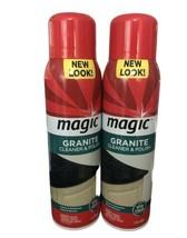 2 Pack Magic Granite Cleaner & Polish Aerosol 17 oz Discontinued Marble ... - $54.44