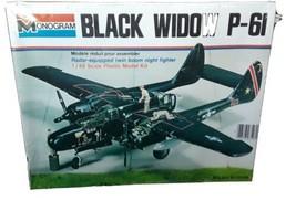 Monogram Black Widow P-6I 1/48 Scale Model Airplane Kit - $24.75