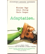 Adaptation VHS Nicolas Cage Meryl Streep Chris Cooper - $1.99
