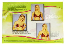 Fullness Women's Silicone Breast Enhancer Push Up Pads With Brown Nipple #1001B image 3