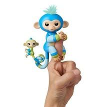 WowWee Fingerlings Baby Monkey Mini BFFs Billie Aiden Finger Puppets, Bl... - $17.89