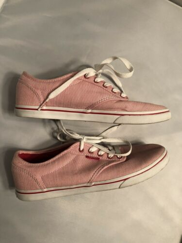 Vans Red White Candy Striped Shoes Size 7 and 50 similar items