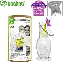 Haakaa Breast Pump with Suction Base and Flower Stopper 100% Food Grade ... - $45.25